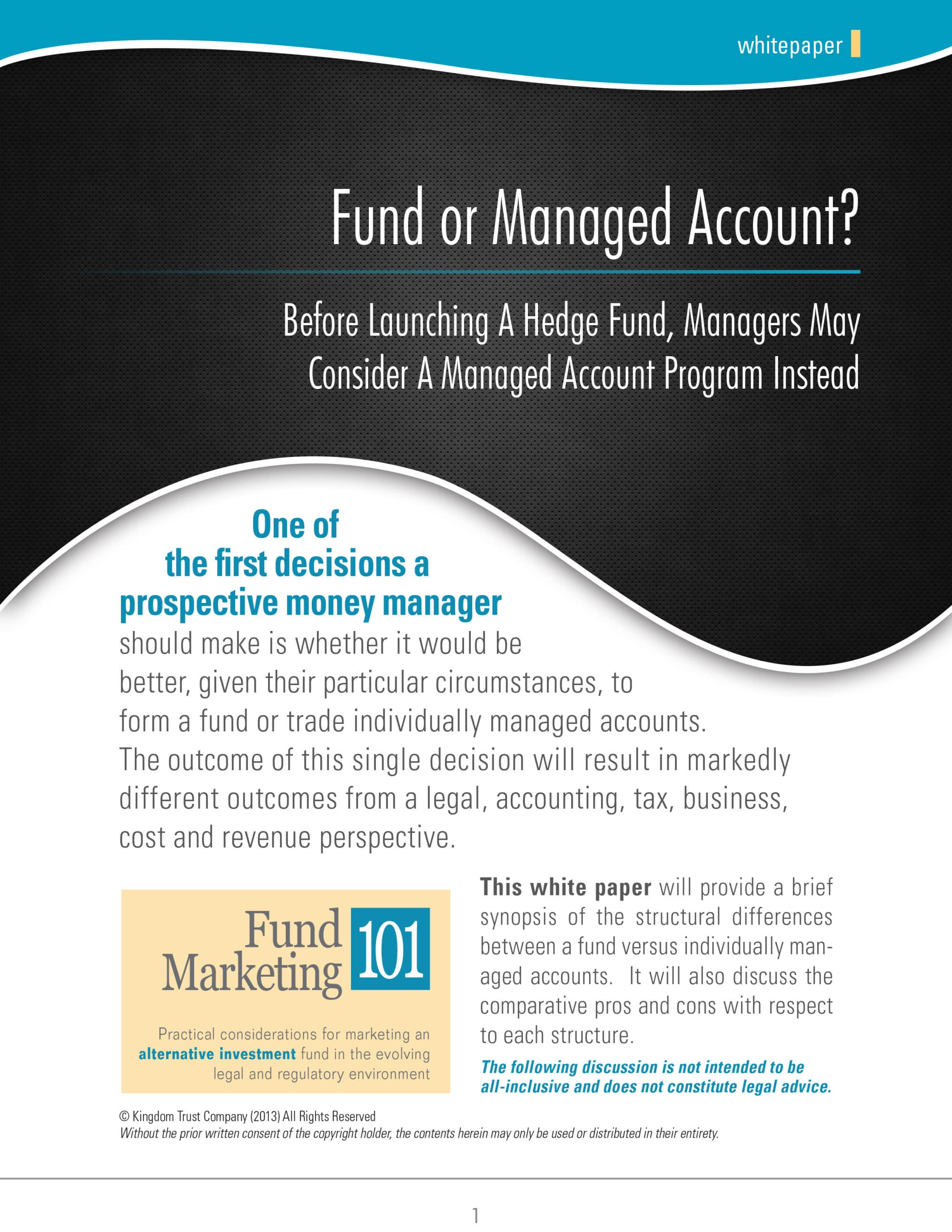 Fund or Managed Account
